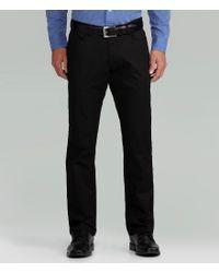 Calvin Klein - Black Slim-fit Sateen Bowery Stretch Pants for Men - Lyst