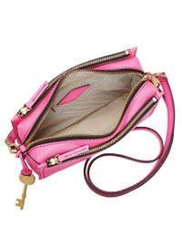 Fossil - Pink Campbell Cross-body Bag - Lyst