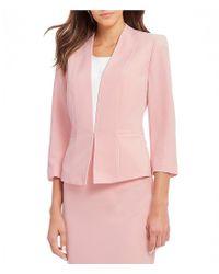 Kasper - Pink Shawl Lapel Flyaway Jacket - Lyst