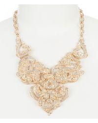Belle By Badgley Mischka - Metallic Vintage Frontal Necklace - Lyst