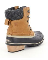 Sorel Black Slimpack Ii Lace Waterproof Winter Booties