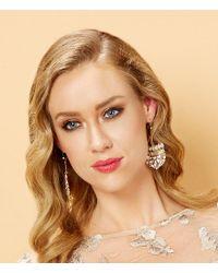 Belle By Badgley Mischka - Metallic Mosaic Crystal Stone Statement Earrings - Lyst