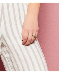 Lucky Brand | Metallic Turquoise Stacked Ring | Lyst