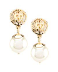 Anne Klein Multicolor Pearl Clip-on Drop Earrings