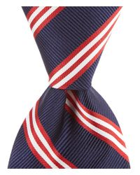 Brooks Brothers - Blue Group Striped Traditional Silk Tie for Men - Lyst