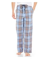 Psycho Bunny - Blue Serenity Plaid Woven Pajama Pants for Men - Lyst