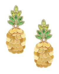 Kate Spade - Metallic Pineapple Statement Earrings - Lyst