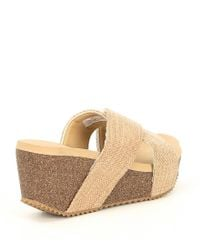 Volatile - Natural Newcastle X-band Wedge Sandals - Lyst