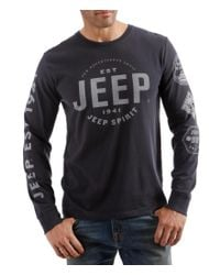 Lucky Brand - Black Big & Tall Jeep Long-sleeve Tee for Men - Lyst