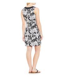 Tommy Bahama Black Palm Noir Sleeveless Tunic Dress