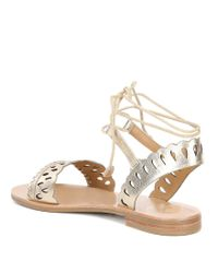 Jack Rogers - Ruby Metallic Laser Perforated Sandals - Lyst