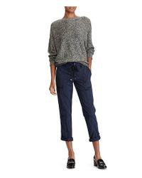 Lauren by Ralph Lauren - Black Petite Cotton-blend Dolman Sweater - Lyst
