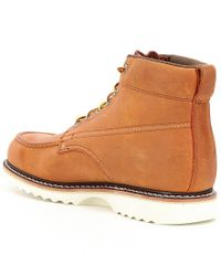 Wolverine | Brown Men's Leather Textile Lined Lace-up Moc Toe Boots for Men | Lyst