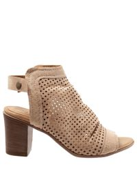 Hush Puppies Multicolor Bueno Udo Perforated Brushed Leather Slingback Sandals
