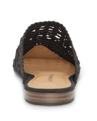 Lucky Brand - Black Baylint Woven Slip On Mules - Lyst