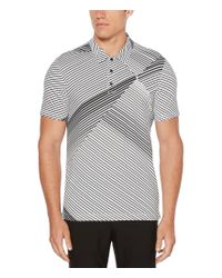 Perry Ellis - Black Diagonal Abstract Stripe Short-sleeve Polo Shirt for Men - Lyst