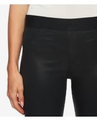 1.STATE - Black Lacquered Twill Leggings - Lyst