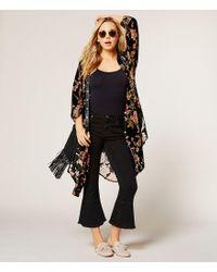 Lucky Brand - Black Colima Studded Fringed Cross-body Bag - Lyst