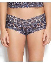 Hanky Panky - Multicolor Mysterious Feline Leopard-print V-front Boy Short Panty - Lyst