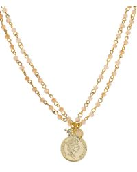 Panacea - Metallic Layered Coin Necklace - Lyst