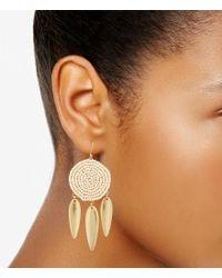 Lucky Brand - Metallic Seed Bead Statement Earrings - Lyst