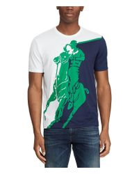 Polo Ralph Lauren Green Active Fit Big Pony Graphic T-shirt for men
