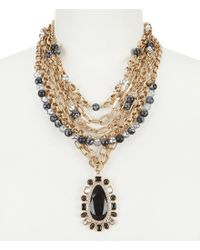 Belle By Badgley Mischka - Red Beads & Chains Necklace - Lyst