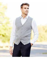 Hart Schaffner Marx - White Diamond Texture Long-sleeve Sportshirt for Men - Lyst
