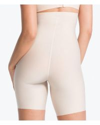 Spanx - Black Thinstincts High-waisted Mid-thigh Shorts - Lyst