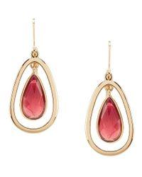 Anne Klein   Metallic Orbital Teardrop Earrings   Lyst