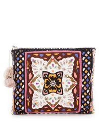 Steve Madden - Multicolor Ava Embroidered Clutch - Lyst