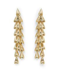 Vince Camuto Metallic Goldtone Waterfall Statement Earrings