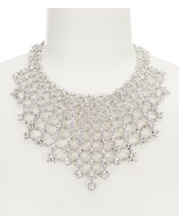 Givenchy - Metallic Crystal Drama Statement Necklace - Lyst
