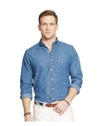 Polo Ralph Lauren - Blue Classic-fit Solid Denim Shirt for Men - Lyst