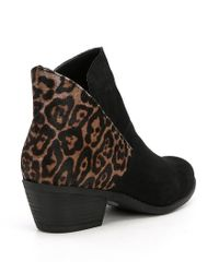 Me Too | Black Zena Slip-on Ankle Boots | Lyst
