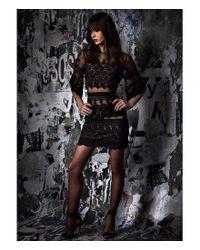 Nicole Miller Artelier - Black Lace Bell Sleeve Sheath Dress - Lyst