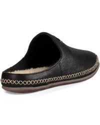 Ugg - Black ® Tamara Leather Decorative Stitching Slip On Open Back Mules - Lyst