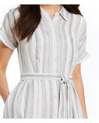 Antonio Melani - Blue Hazel Linen Stripe Midi Shirt Dress - Lyst