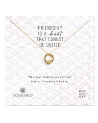 Dogeared - Metallic Friendship Knot Necklace - Lyst