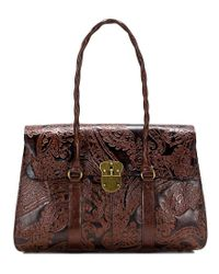 Patricia Nash - Brown Burnished Tooled Collection Vienna Satchel - Lyst