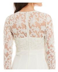 Eliza J - White Embroidered Top Jumpsuit - Lyst