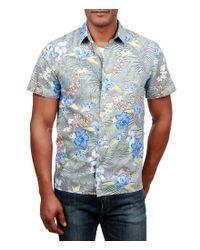 Lucky Brand - Blue Aloha Short-sleeve Shirt for Men - Lyst