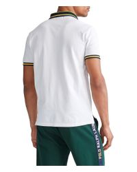 Polo Ralph Lauren White Big Pony Embroidered Crest Short-sleeve Polo Shirt for men