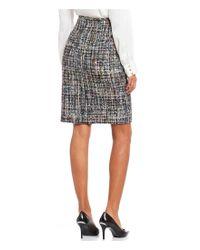 690931cb36 Calvin Klein Multi-color Boucle Suiting Pencil Skirt - Lyst