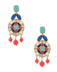 Kate Spade - Multicolor Jeweled Tile Statement Drop Earrings - Lyst