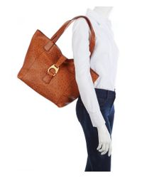Dooney & Bourke - Natural Derby Ostrich Collection East/west Shopper - Lyst