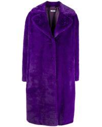 Cappotto In Ecopelliccia di P.A.R.O.S.H. in Purple