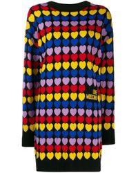 Abito Cuori All Over di Love Moschino in Multicolor