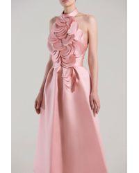 Saiid Kobeisy Pink Halter Neck Asymmetrical Gown