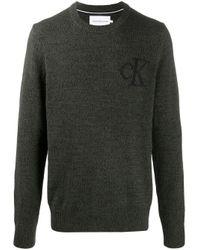 Maglione con logo di Calvin Klein in Multicolor da Uomo